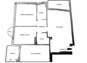 Trilocale recente con terrazzo a Busto Arsizio