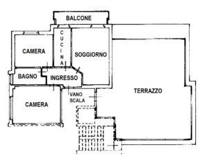 Trilocale con terrazzo e box