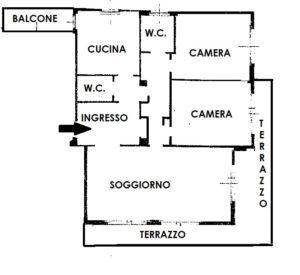 Appartamento trilocale in centro a Busto Arsizio