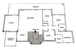 Attico con terrazzi in Zona Frati