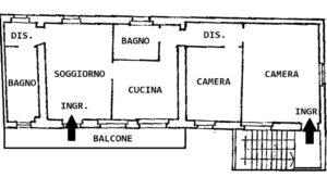 In corte trilocale in centro a Busto Arsizio